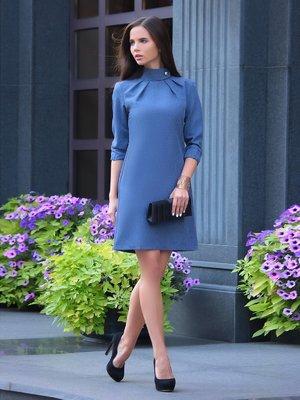 Сукня кольору темно-синій графіт | 3031429