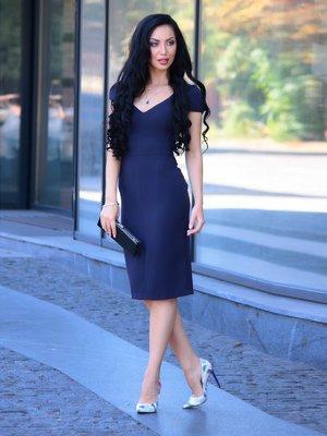 Платье темно-синее | 3347711
