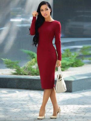 Платье сливового цвета | 3608757