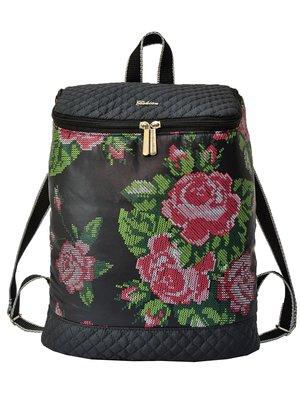 Рюкзак черный в цветы | 3901880
