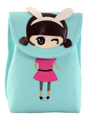 Рюкзак бирюзовый с аппликацией-вышивкой | 3912643