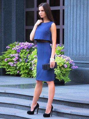 Платье-сарафан темно-синего цвета | 3916418