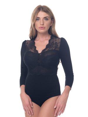 Блуза-боди черное | 3918275