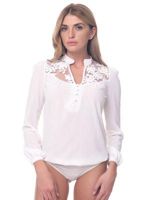 Блуза-боді молочного кольору | 3918282