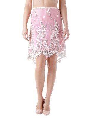 Юбка розово-белая с вышивкой | 3921006