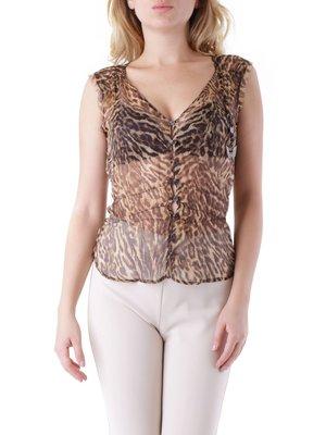 Блуза анімалістичного забарвлення | 3921030