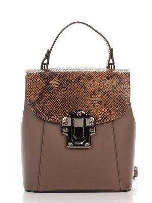 Сумка-рюкзак темно-бежева | 3924106