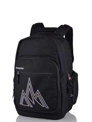 Рюкзак черный с принтом | 3924411