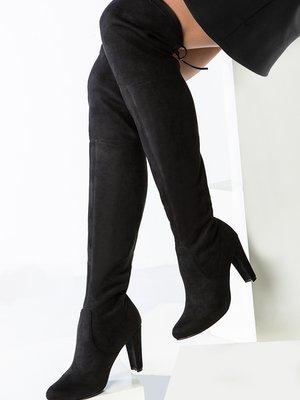 Сапоги-ботфорты черные | 3920063