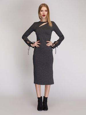 Сукня кольору сірий меланж | 3924034