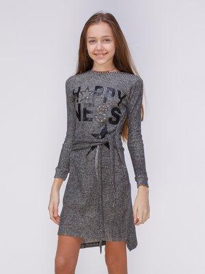 Сукня чорна з принтом   3857932
