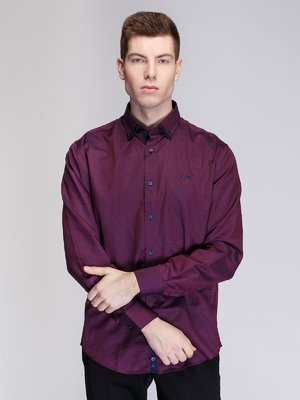 Рубашка бордовая | 3930815