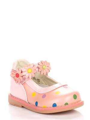 Туфлі рожеві в горошок | 3902643