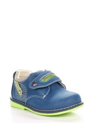Туфли синие с принтом   3919447