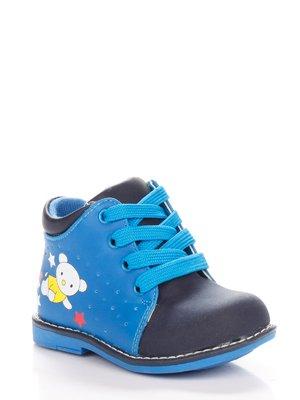Ботинки сине-голубые с принтом | 3919017
