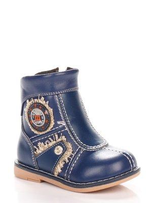 Ботинки синие с аппликацией | 3919048
