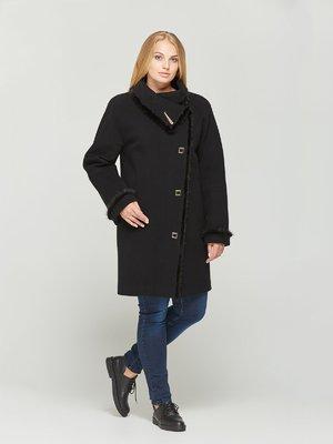 Пальто черное с отделкой из меха норки - DANNA - 2652481