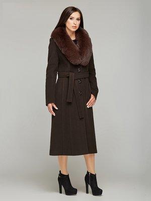Пальто коричневое - DANNA - 3407814
