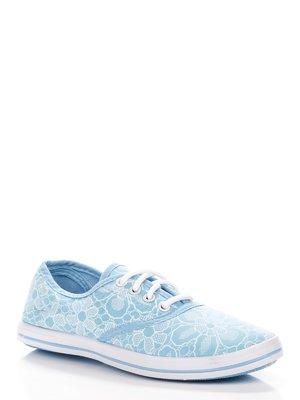 Кеды голубые в принт | 3940392