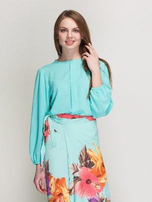 Блуза бирюзовая | 3087846