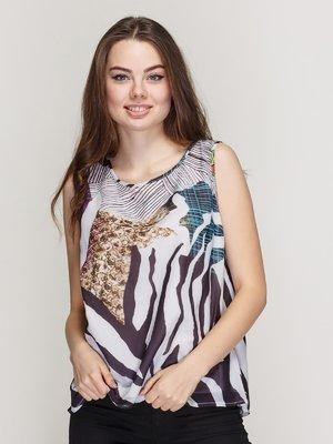Блуза комбінованого забарвлення | 3926365
