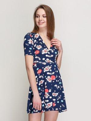 Сукня синя в квітковий принт - Cool&Sexy - 3926363