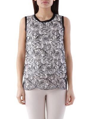 Блуза чорно-біла | 3957779