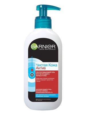 Гель Garnier Skin Naturals «Чистая кожа актив» для жирной, склонной к появлению несовершенств кожи (200 мл) | 3956180