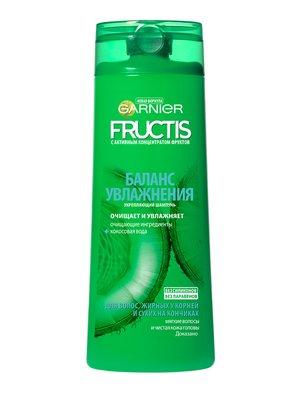 Шампунь Garnier Fructis «Баланс увлажнения» для волос, жирных у корней и сухих на кончиках (400 мл) | 3956324