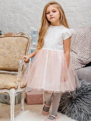 Платье молочно-персикового цвета | 3958938