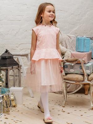 Платье персикового цвета | 3958939