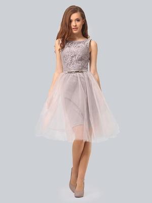 Сукня світло-сіра | 3958990