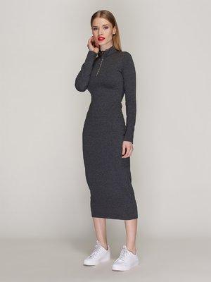 Платье темно-серое | 3955733