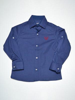 Сорочка синя з принтом | 3960895