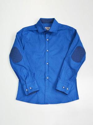 Сорочка яскраво-синя в клітинку | 3960904