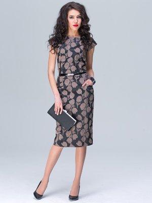 Сукня чорна в принт | 2161935