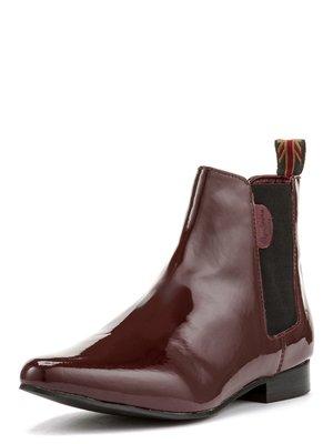 Ботинки бордовые | 3967940