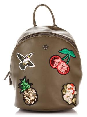 Рюкзак кольору хакі | 3945253