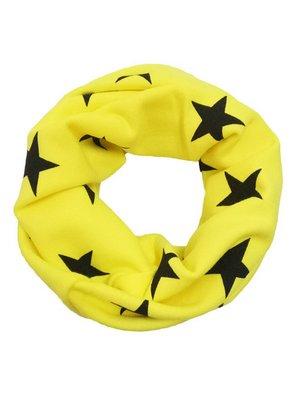 Шарф-снуд жовтий з принтом | 3971146