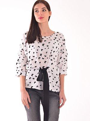 Блуза біла в принт | 3971491