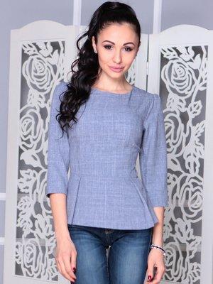 Блуза кольору фіолетового серпанку | 3973358