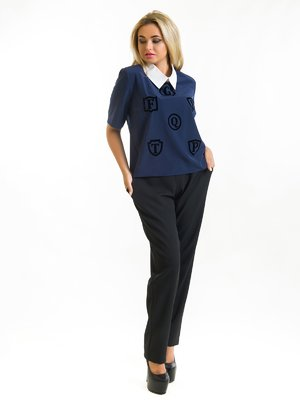 Блуза синяя | 3973840