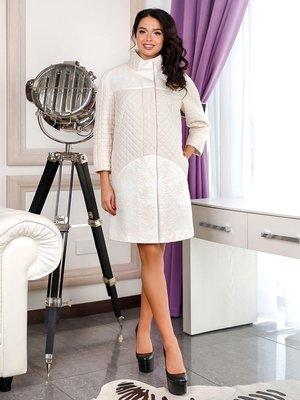 Пальто белое с цветочным рисунком | 3974718