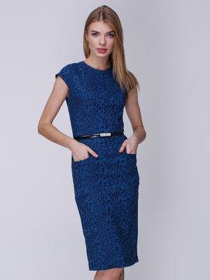 Сукня синя в принт | 3961667