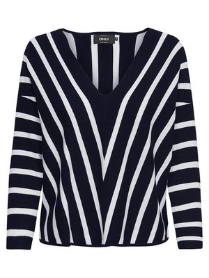 Пуловер синій в смужку | 3961114