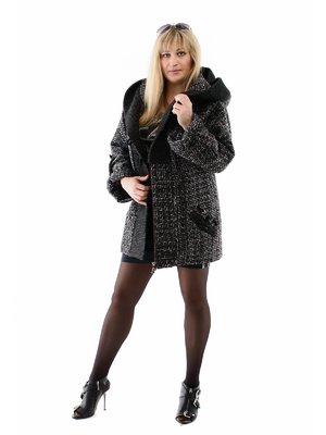 Пальто черно-серое | 3979244