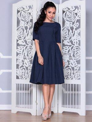 Платье темно-синее | 3983840
