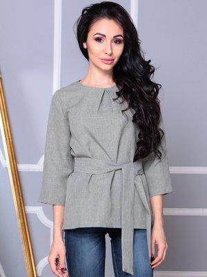 Блуза темно-оливкового кольору | 3993186