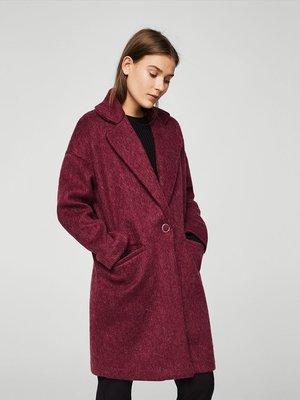 Пальто бордовое | 3938830