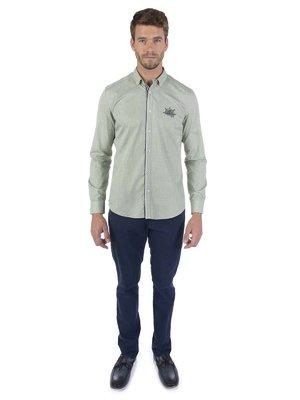 Рубашка зелено-белая | 3703127